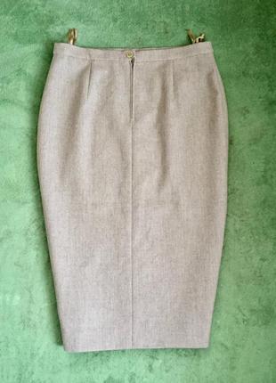 Элегантная юбка шерсть деловая строгая премиальный бренд