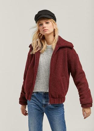 Куртка плюшевая барашек в стиле bershka,новая