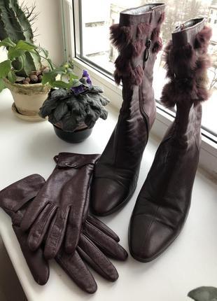 Сапоги braska демисезонные сапоги весенние осенние кожанные перчатки