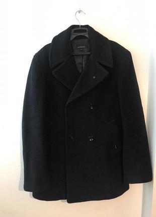 Шикарное зимнее шерстяное пальто calvin klein