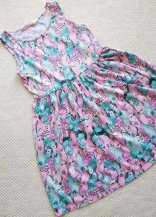 Легкое летнее платье 6-8 лет