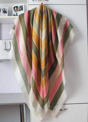 Шикарный большой платок палантин от christian dior