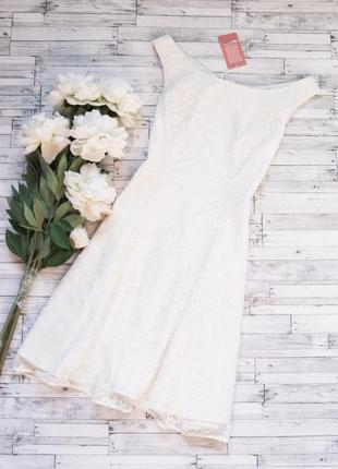Платье сеточка полностью в вышивку monsoon