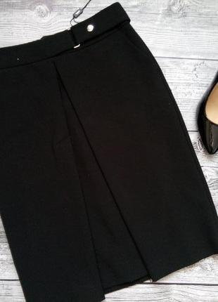 Классическая юбка со встречной складкой и карманами (см.замеры)