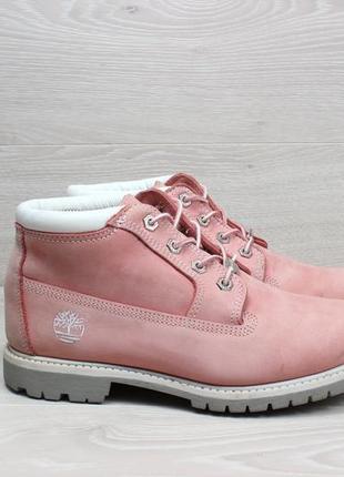 Кожаные розовые ботинки timberland оригинал, размер 40