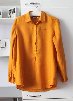 Шикарная льняная рубашка от lacoste, оригинал