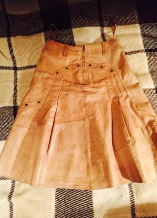 Крутая кожаная юмиди юбка из мягкой кожи-carla dunord