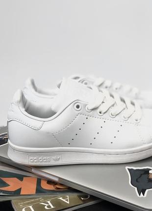 Шикарные женские кроссовки adidas stan smith all white (весна/ лето/ осень)