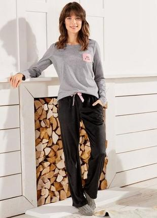 Очаровательные плюшевые уютные домашние брюки от esmara р.36-38