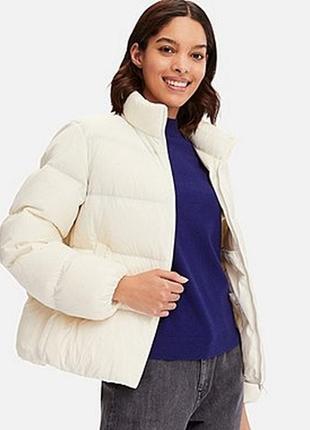 Легкая куртка пуховик ultra light down volume jacket от uniqlo, складывается в мешочек, м