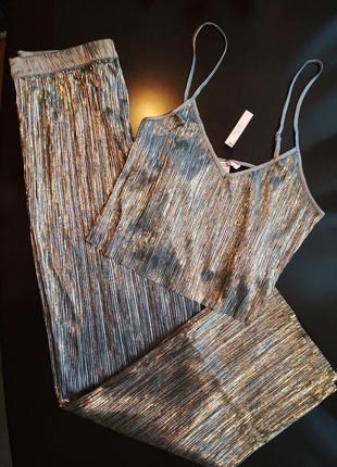 Роскошный комплект брюки+майка victoria's secret оригинал