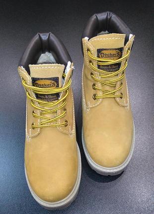 Ботинки (унисекс) в стиле timberland европейского бренда dockers, р. 32 (21,0 см.)