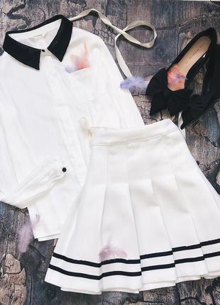 Белая блуза naf-naf m/s
