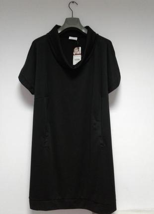 🍒базовое демисезонное трикотажное платье прямого кроя с карманами🍒