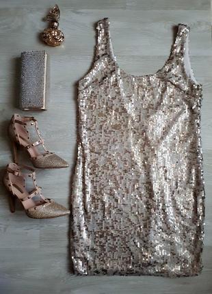 Платье в пайетках / блестящее платье / 2я вещь в подарок