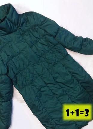 Jackpot пальто стеганное m 46-48рр изумруд куртка пуховик синтепон стильное тренд