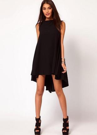 Свободное платье asos (удлиненное сзади) новый год, корпоратив