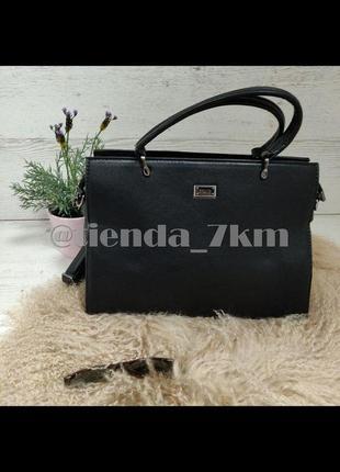 Женская офисная сумка f220 черная