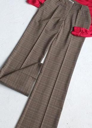 Трендовые стильные брюки актуальные штаны в клетку прямые от orsay