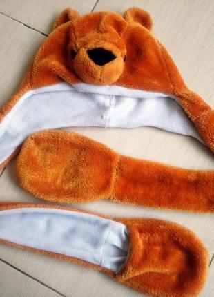Шапка костюм карнавальный медведь мишка