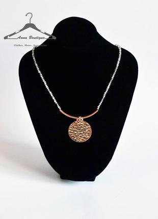 Модное ожерелье pilgrim покрытое розовым золотом