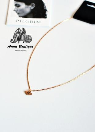 Яркое и очаровательное позолоченное ожерелье колье цепочка pilgrim