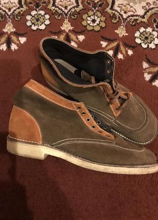 Туфли натуральная кожа натуральный замш