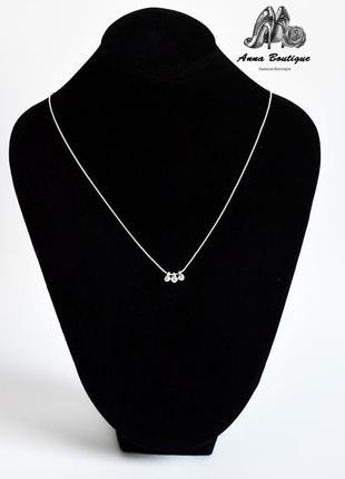 Восхитительное классическое посеребренное ожерелье цепочка колье pilgrim