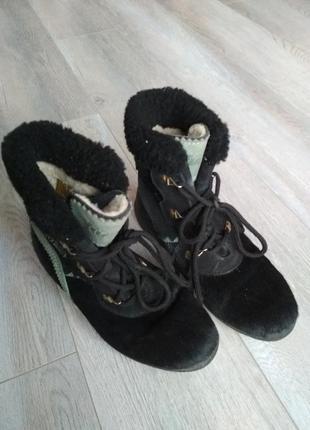 Хутряні черевики / сапоги, ботинки