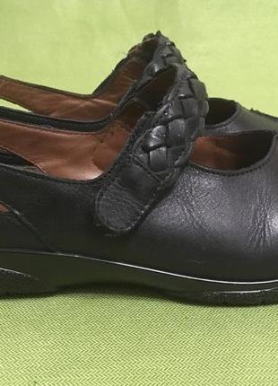 Туфли кожаные hotter англия р.39, стелька 26 см.