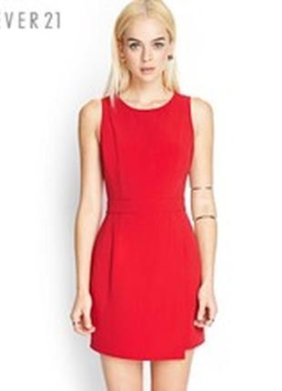 Новое красное платье с открытой спиной forever 21
