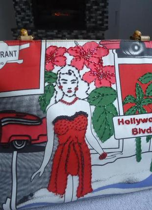 Красивая сумка тканевая.