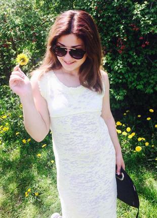 Платье летнее лимонно салатовое