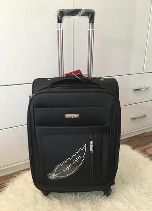 Маленький тканевый чемодан (ручная кладь) с расширением