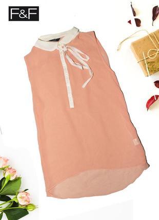 Нежная топ-блуза с бантиком f&f