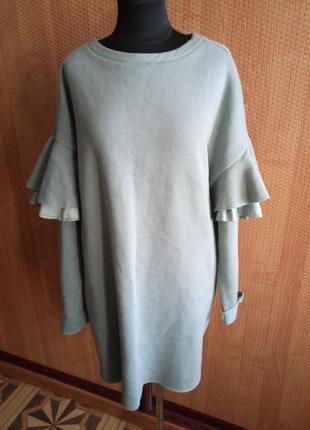Платье свитшот в стиле оверсайз
