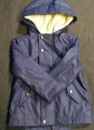 Теплая курточка-дождевик
