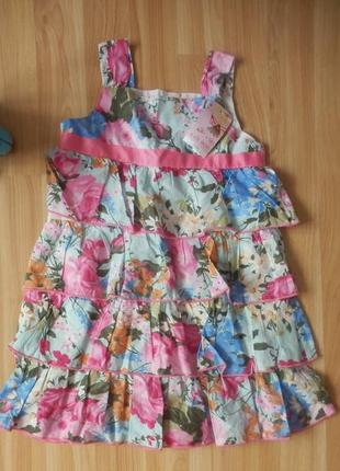 Новое фирменное платье evi малышке 3-4 года
