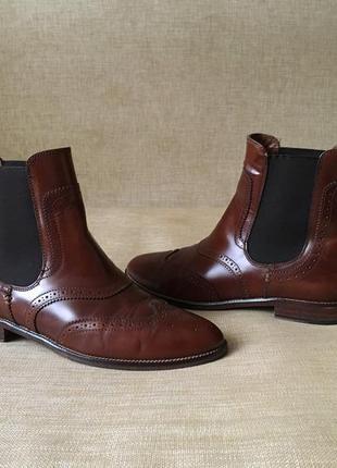 Кожаные челси, ботинки, сапоги massimo dutti, 39 р.