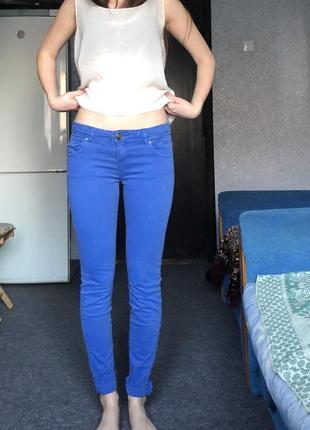 Штаны синие pull&bear
