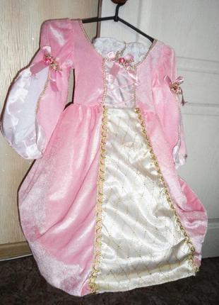 Нарядное платье 4-5 лет (пышное, на кольцах) рост 104-110
