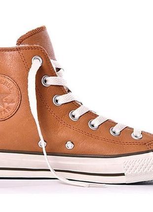 Зимние кожаные кеды converse размер 35