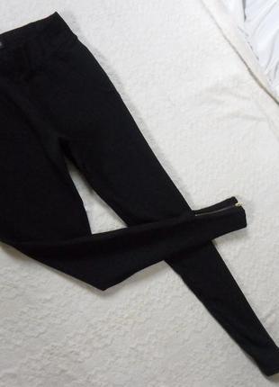 Стильные плотные черные леггинсы штаны скинни chicoree , 8-10 размер
