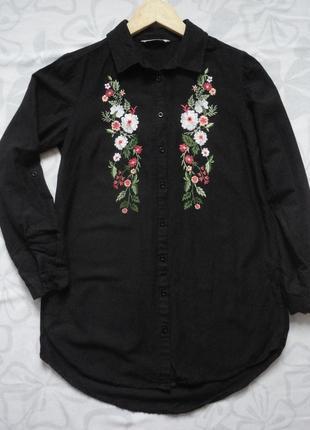 Удлинённая рубашка с вышивкой вышиванка