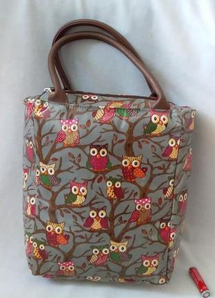 Дитяча лакова сумочка із совами