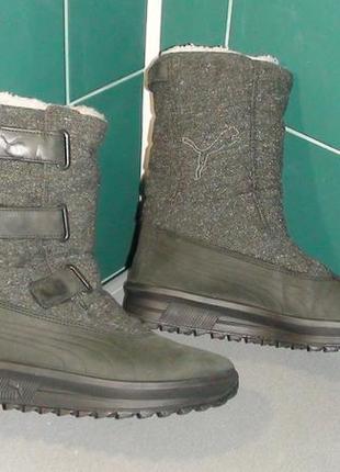 Puma gore-tex - зимові чоботи. р - 38 (24см)