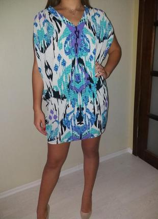 Не обычное легкое платье 12-14р.