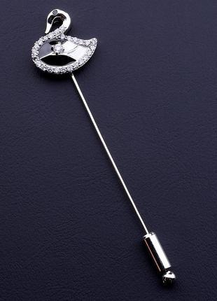 Брошь фианит родий 0661970