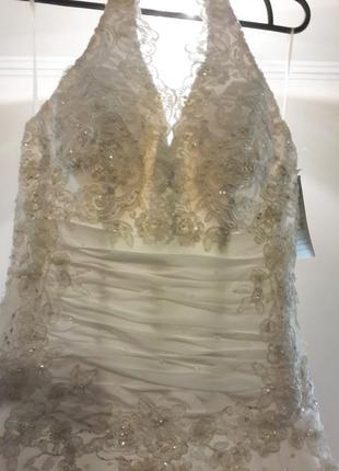 Шикарное новое свадебное платье обнаженная спинка