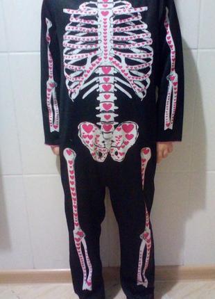 Карнавальный костюм кащей, скелет хэллоуин на 5-6 лет